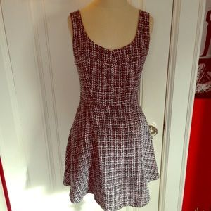 Vintage B&W Tweed Mini Tank Dress